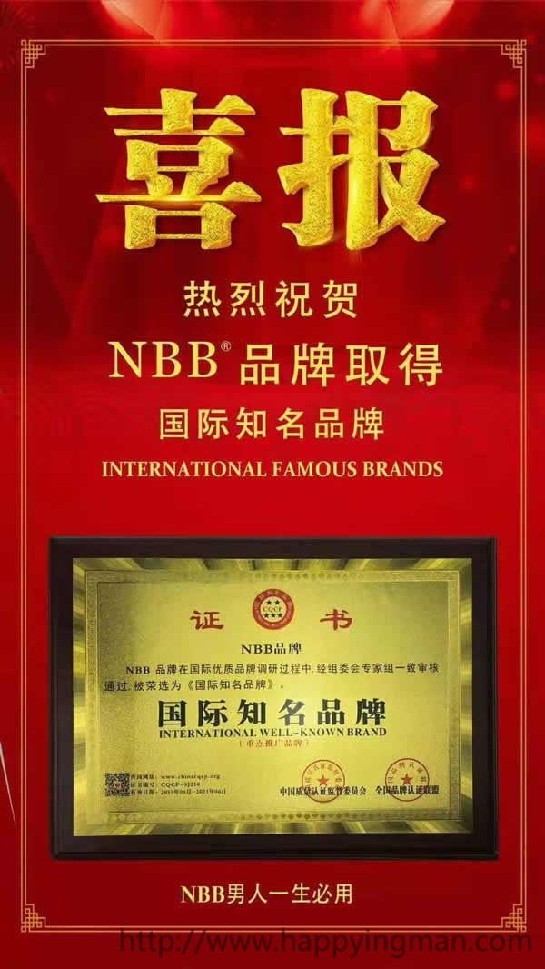 热烈祝贺NBB荣获国际知名品牌